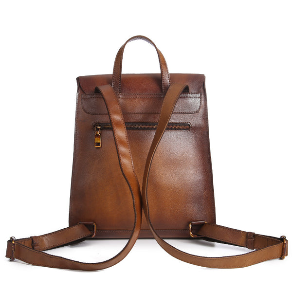 Cool leather backpack bag women laptopbag