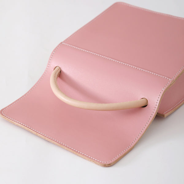 Ladies Pink Leather Handbags Small Leather Work Bag for Women