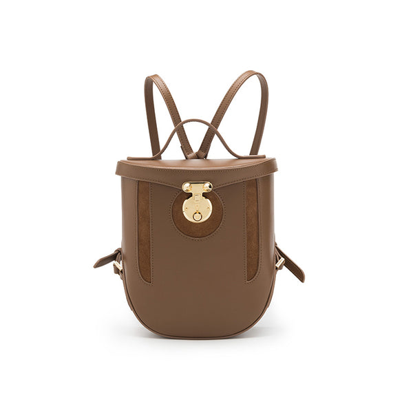 Vintage Leather Backpacks Travelling Bag Unique Backpack Women