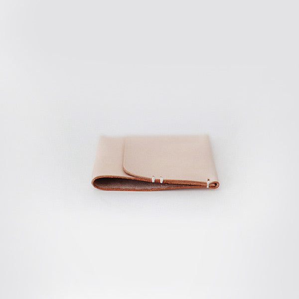 Womens Handmade Leather Card Wallet Slim Wallet Purses for Women