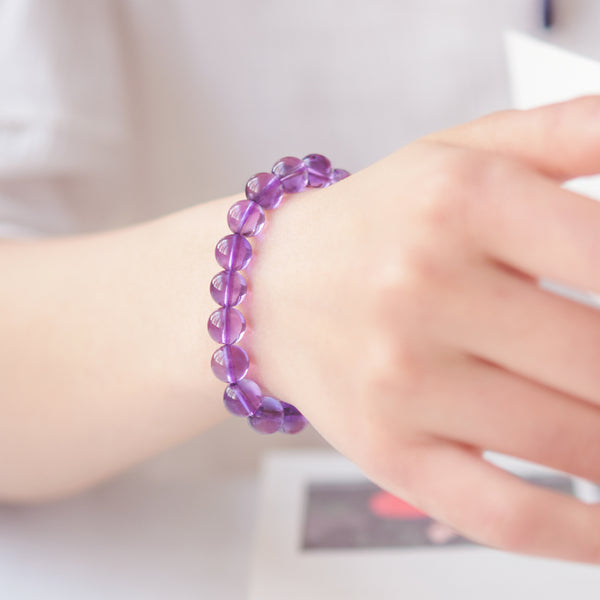 Amethyst Beaded Bracelet Handmade Jewelry Accessories Gifts for Women