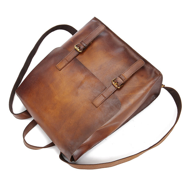 vintage leather backpack bag women laptopbag laptop backpack