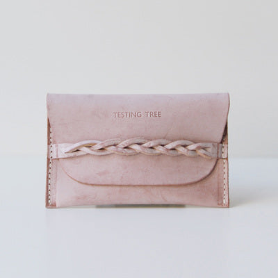 Pink Leather Womens Card Wallet Slim Coin Purse Card Holder for Women