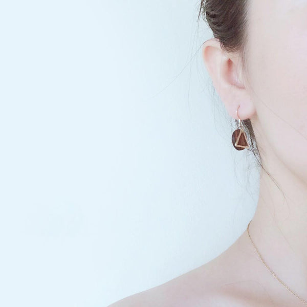 Wood Drop Earrings in Sterling Silver 14K Gold Handmade Jewelry Accessories Women