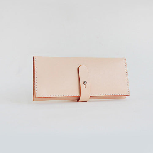 Handmade Vintage Leather Long Wallets Purse Clutch for Women