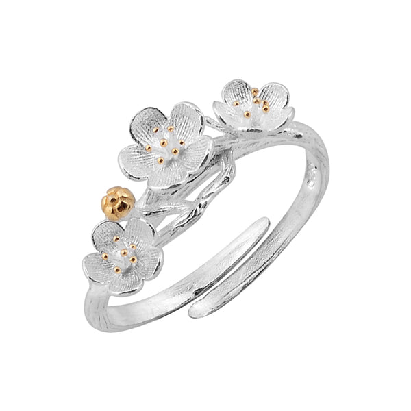 Sterling Silver Flower Ring Unique Jewelry Handmade Jewelry Gifts Women