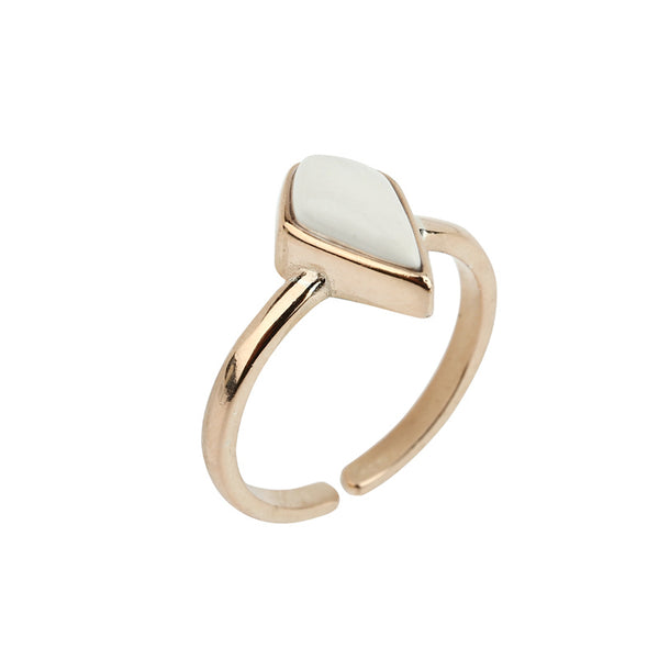 White Turquoise Ring in Sterling Silver Handmade Jewelry Gift Women
