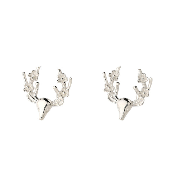 Sterling Silver Fawn Stud Earrings Handmade Jewelry Gifts Women
