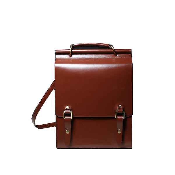 Trendy Ladies Square Leather Backpack Purse Bag Book Bags for Women