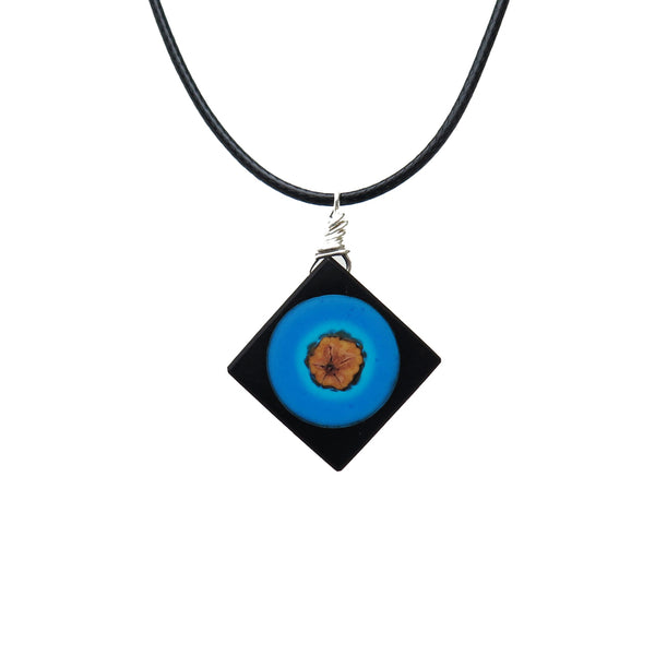 Handmade Wood Resin Pendant Necklace Jewelry Accessories Gift For Women Men