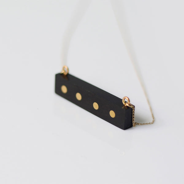 Gold Wood Pendant Necklace Handmade Jewelry Accessories Women left