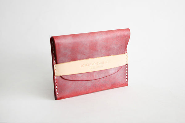 Leather Short Slim Wallets Card Holders Handmade Coin Wallets Women