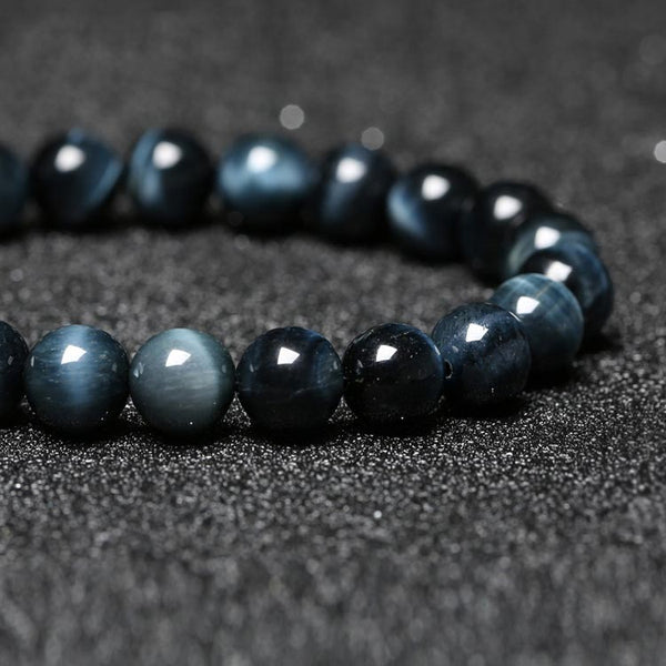 Blue Tigereye Bead Bracelet Handmade Lovers Jewelry Accessories Women Men