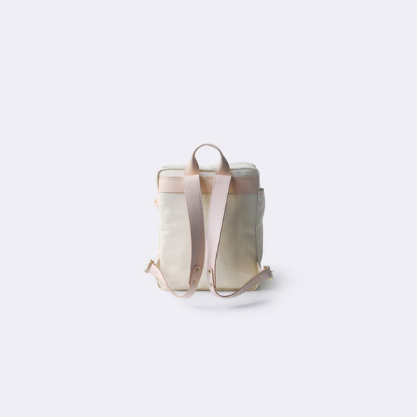 Handmade Leather Canvas Backpacks School Bags Rucksack Women