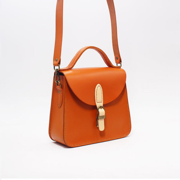 Stylish Women Brown Leather Handbags Crossbody Bags Purse for Women