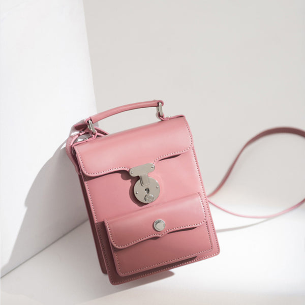 Cute Leather Womens Satchel Bag Small Leather Shoulder Bag for Women