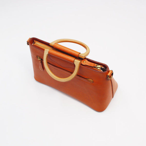 Unique Womens Brown Leather Handbags Leather Crossbody Bags for Women