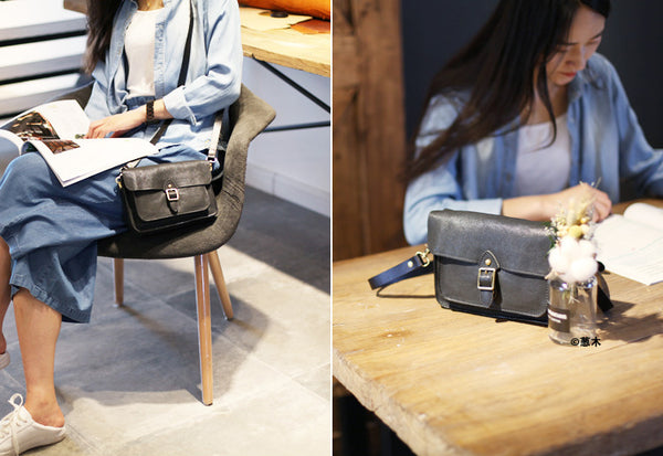 Womens Satchel Bag Handmade Leather Crossbody Bag For Women