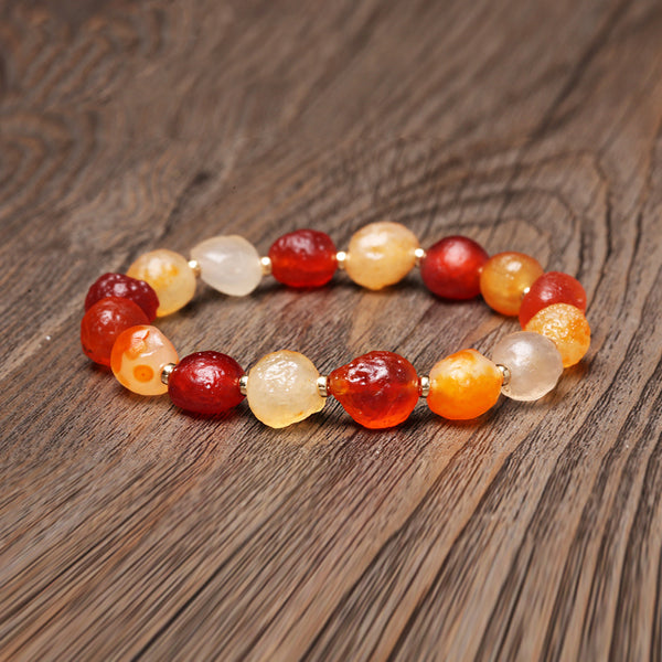 Agate Beaded Bracelets Handmade Jewelry Accessories Gift Women Men adorable