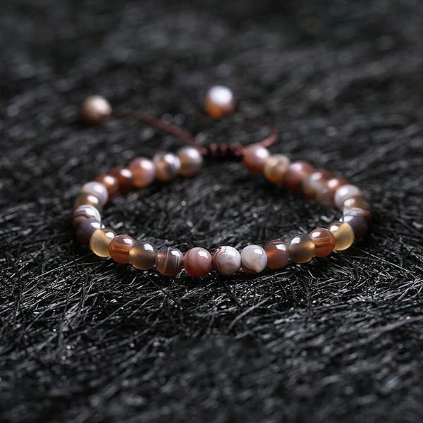 Agate Beaded Bracelets Handmade Jewelry Accessories Gift Women Men cute