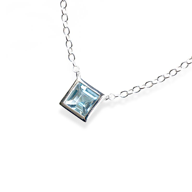 Aquamarine Necklace March Birthstone