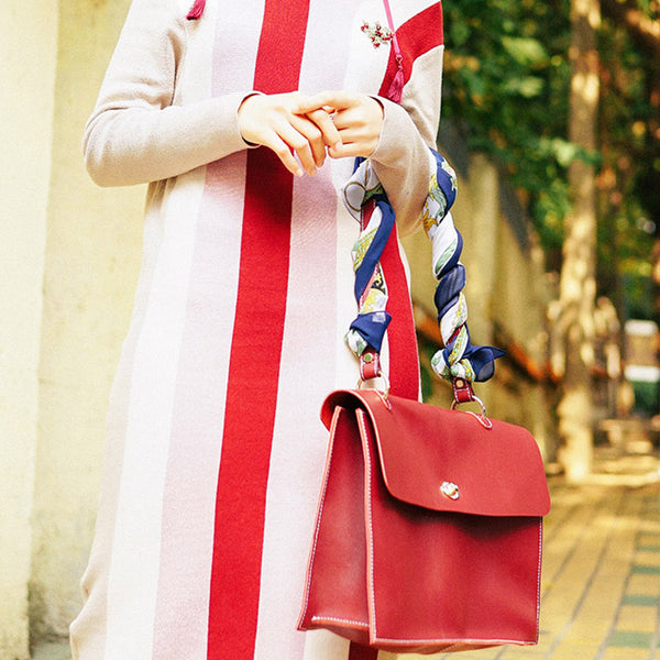 Beautiful Ladies Red Leather Handbags Leather Shoulder Bag for Women Boutique