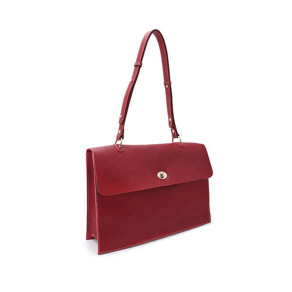 Beautiful Ladies Red Leather Handbags Leather Shoulder Bag for Women Details