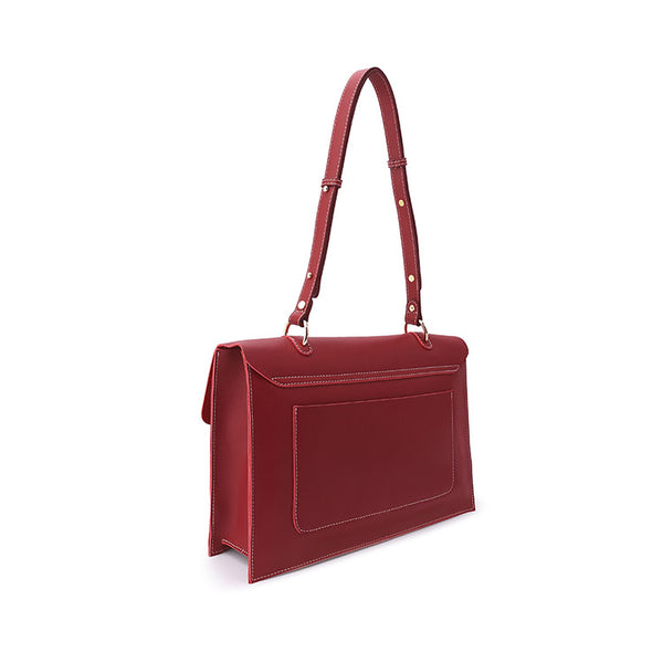 Beautiful Ladies Red Leather Handbags Leather Shoulder Bag for Women Genuine Leather