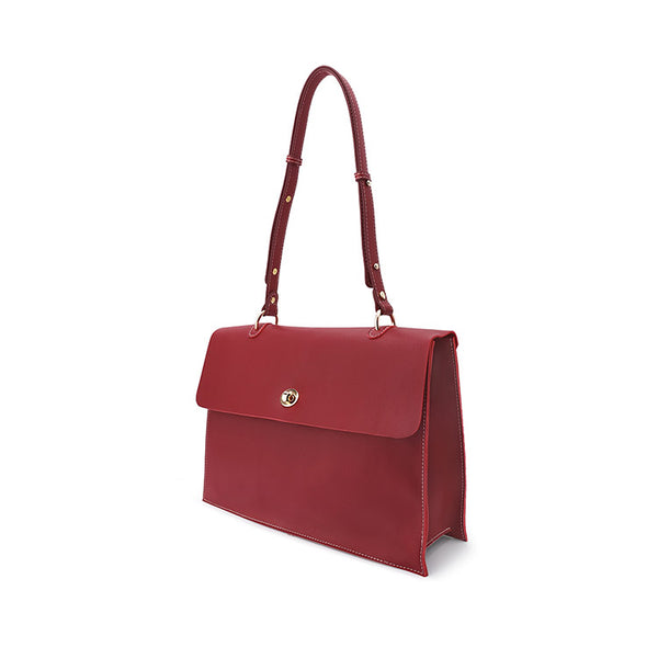 Beautiful Ladies Red Leather Handbags Leather Shoulder Bag for Women designer