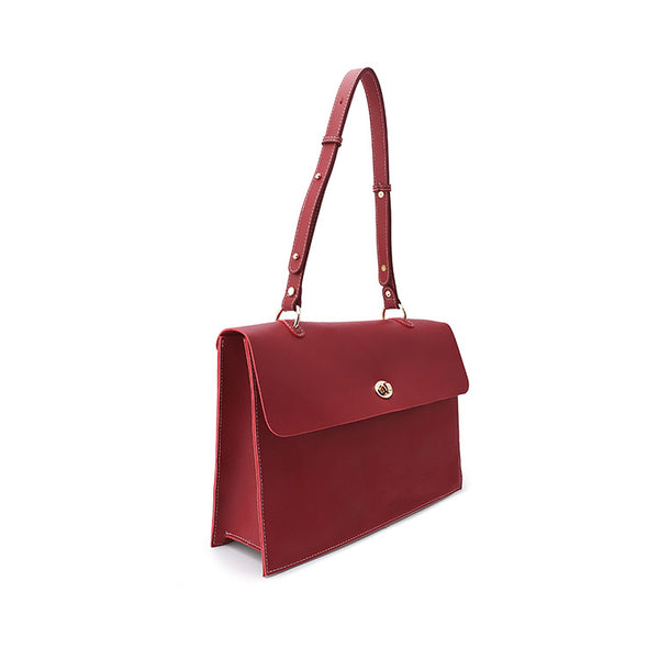 Beautiful Ladies Red Leather Handbags Leather Shoulder Bag for Women fashion