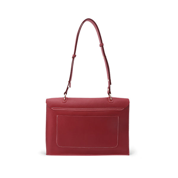 Beautiful Ladies Red Leather Handbags Leather Shoulder Bag for Women gift