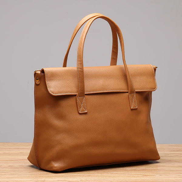 Beige Leather Womens Handbags Work Bags Shoulder Bag for Women