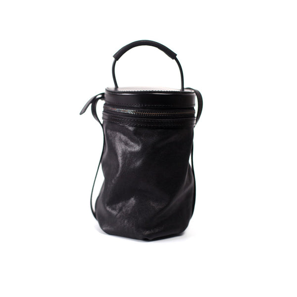 Black Leather Bucket Bag Womens Handbags Crossbody Bags for Women Boutique