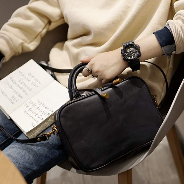 Small Cube Bag Leather Handbags for Ladies