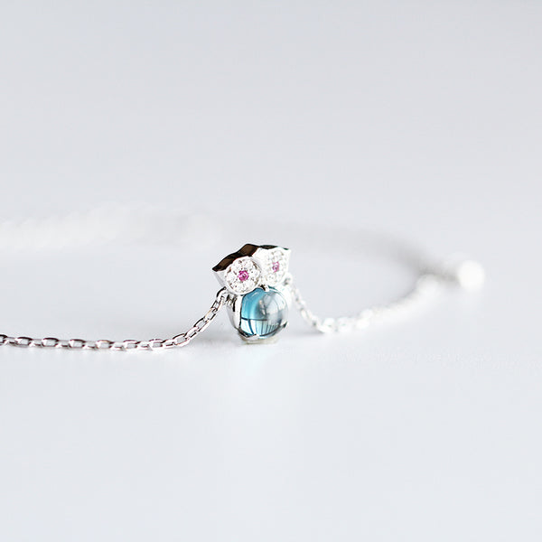 Blue Topaz Bracelet Gold Sterling Silver Jewelry Accessories Women