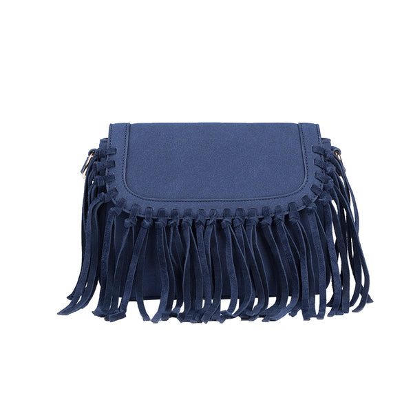 Boho Women's Vegan Leather Fringe Crossbody Sling Bag Purse Satchel Bag For Women Accessories