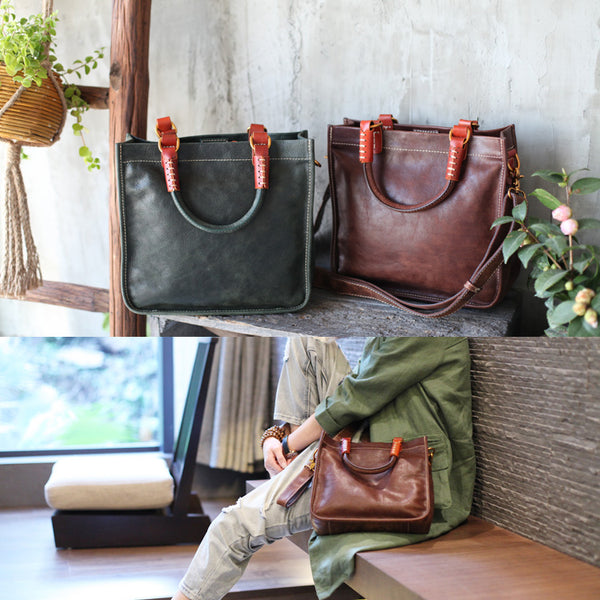 Brown Leather Totes Womens Unique Handbags Crossbody Bags for Women fashion