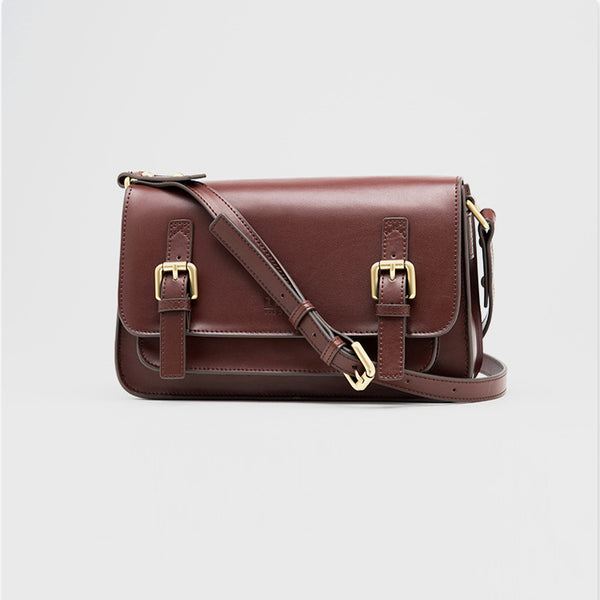 Brown Leather Womens Leather Crossbody Bags Satchel Bag for Women Genuine Leather