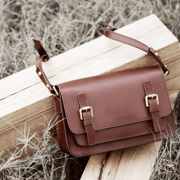 Brown Leather Womens Leather Crossbody Bags Satchel Bag for Women cool