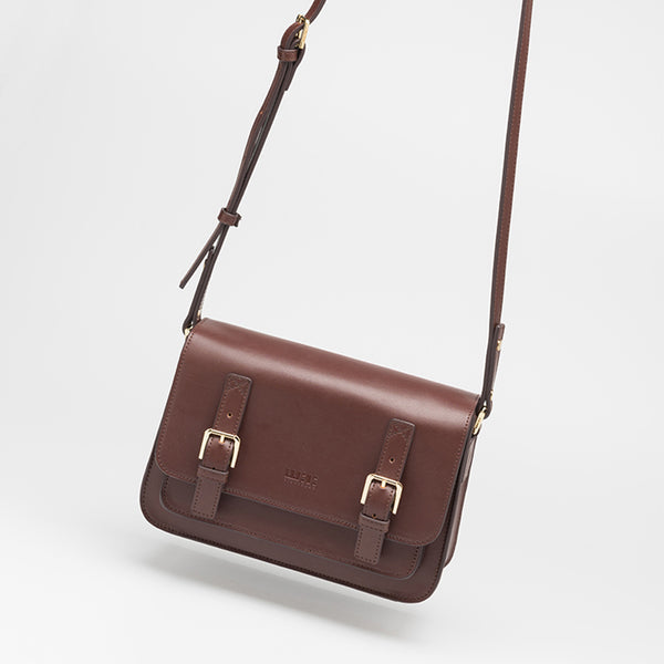 Brown Leather Womens Leather Crossbody Bags Satchel Bag for Women