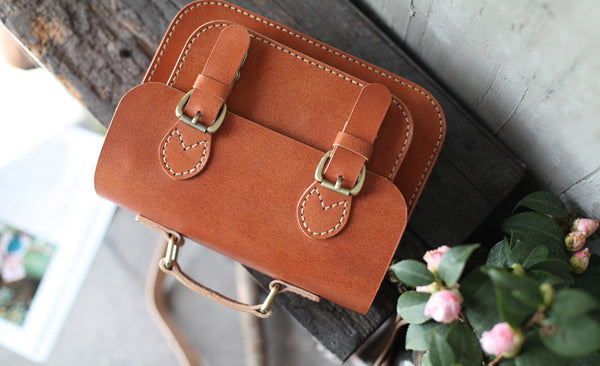 Brown Leather Womens Satchel Bag Handbags Crossbody Bags for Women Genuine Leather