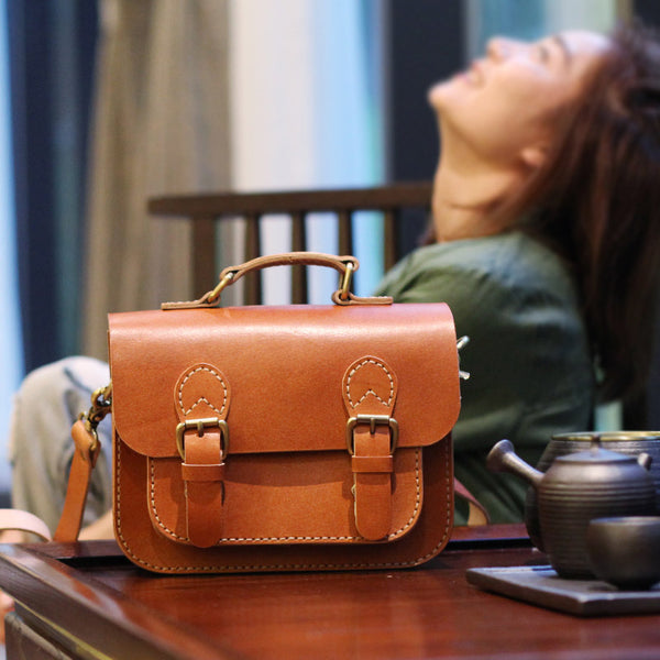 Brown Leather Womens Satchel Bag Handbags Crossbody Bags for Women best