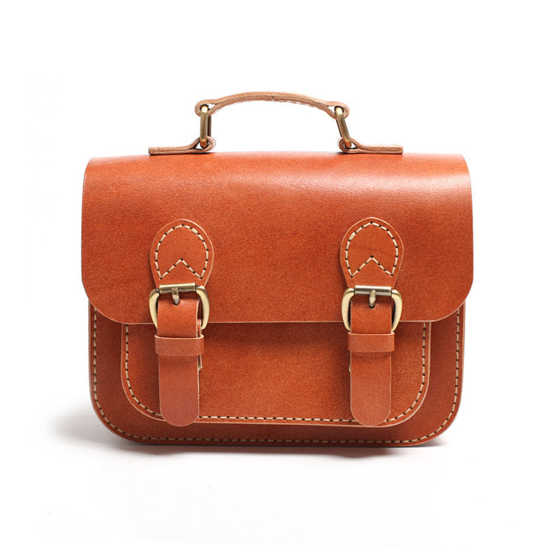 Brown Leather Womens Satchel Bag Handbags Crossbody Bags for Women