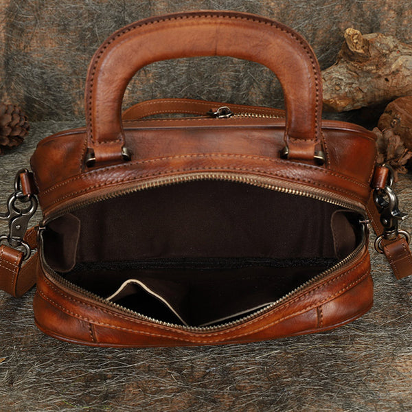 Brown Womens Designer Leather Handbags Small Crossbody Purse for Women cool