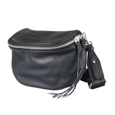 Casual Ladies Leather Over the Shoulder Bag Purse Side Bags For Women Black