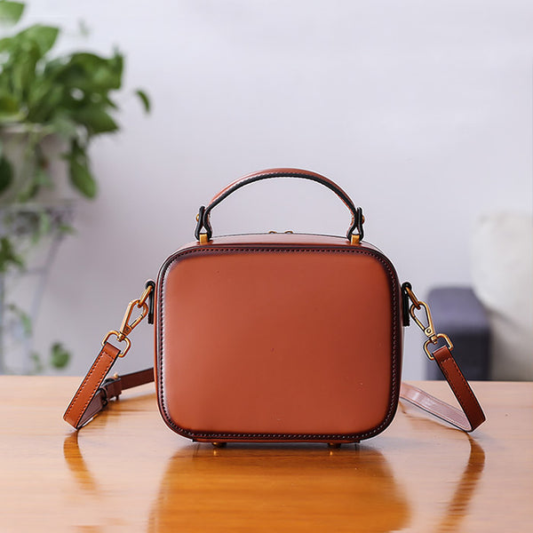 Chic Cube Bag Womens Leather Crossbody Bags Shoulder Bag for Women Boutique