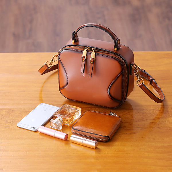 Chic Cube Bag Womens Leather Crossbody Bags Shoulder Bag for Women Chic