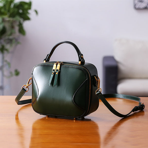 Chic Cube Bag Womens Leather Crossbody Bags Shoulder Bag for Women Genuine Leather