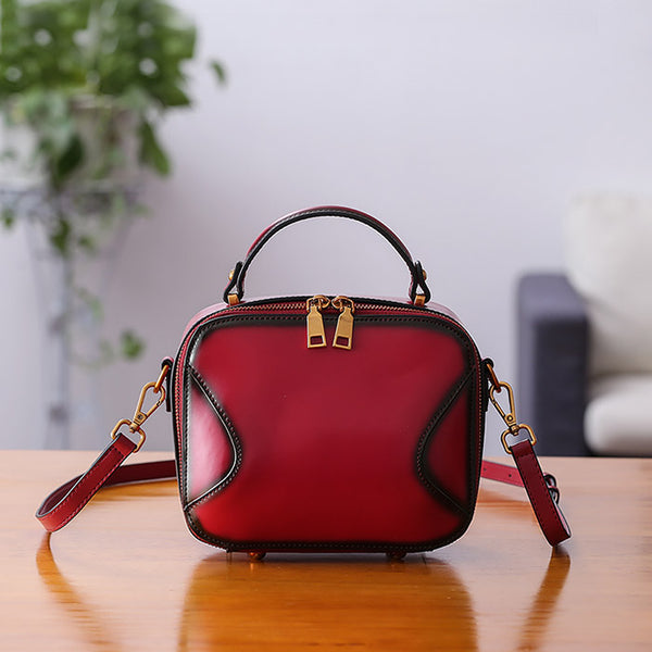 Chic Cube Bag Womens Leather Crossbody Bags Shoulder Bag for Women Handmade