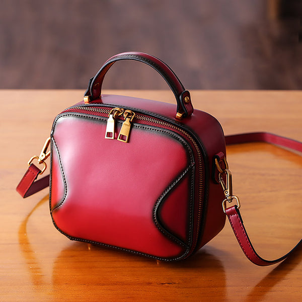 Chic Cube Bag Womens Leather Crossbody Bags Shoulder Bag for Women Minimalist